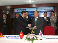 Hợp tác tài chính giữa Hana (Hàn Quốc) với Southern Bank