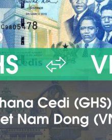Chuyển đổi Ghana Cedi (GHS) sang Việt Nam Đồng (VND)