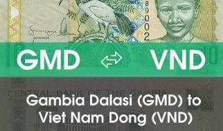 Chuyển đổi Gambia Dalasi (GMD) sang Việt Nam Đồng (VND)