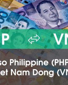 Chuyển đổi Peso Philippine (PHP) sang Việt Nam Đồng (VND)