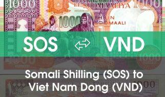 Chuyển đổi Somali Shilling (SOS) sang Việt Nam Đồng (VND)